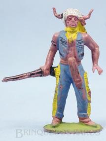 1. Brinquedos antigos - Casablanca e Gulliver - Chefe índio de pé com rifle Gulliver numerado 27