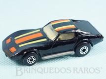 1. Brinquedos antigos - Matchbox - Chevrolet Corvette Superfast preta