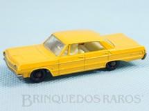 1. Brinquedos antigos - Matchbox - Chevrolet Impala Taxi black plastic Regular Wheels Falta o adesivo