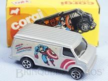 1. Brinquedos antigos - Corgi Toys-Kiko - Chevrolet Van Capitão América Brazilian Corgi Jr Kiko Década de 1980