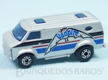 1. Brinquedos antigos - Matchbox - Chevy Van Superfast prata Vanpire