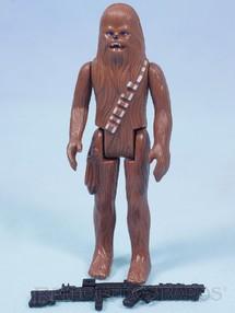 Brinquedos Antigos - Glasslite - Chewbacca Star Wars Lucas Film perfeito estado completo com Arma Década de 1980