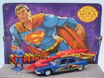 1. Brinquedos antigos - Mira - Citroen CX 2400 Pallas Carro do Super Homem Superman Car com 15,00 cm de comprimento Completo com boneco Década de 1970
