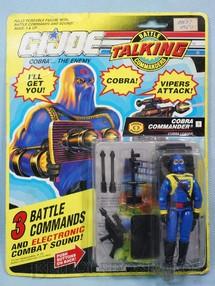 1. Brinquedos antigos - Hasbro - Cobra Commander completo Blister lacrado Série Talking Ano 1991