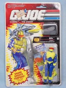 1. Brinquedos antigos - Hasbro - Cobra Eel completo Blister lacrado Ano 1991