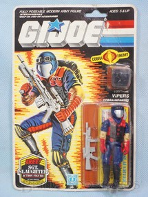 1. Brinquedos antigos - Hasbro - Cobra Vipers completo Blister lacrado Ano 1983