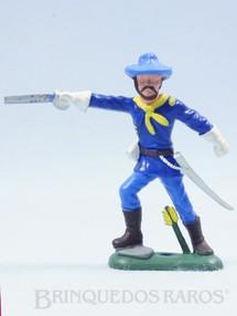 1. Brinquedos antigos - Casablanca e Gulliver - Comandante da Sétima Cavalaria de pé com Sabre Ano 1986