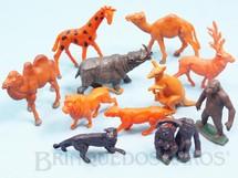 Brinquedos Antigos - Casablanca e Gulliver - Conjunto com 12 Animais Selvagens diversos S�rie Zool�gico D�cada de 1960