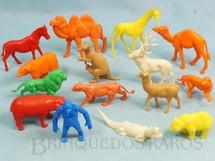 Brinquedos Antigos - Casablanca e Gulliver - Conjunto com 15 Animais Selvagens diversos D�cada de 1970
