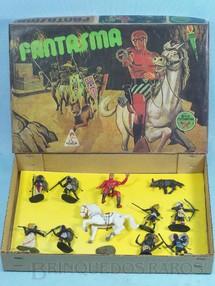 1. Brinquedos antigos - Casablanca e Gulliver - Conjunto completo com Fantasma a cavalo Capeto e 8 Nativos Africanos Série África Misteriosa Década de 1970