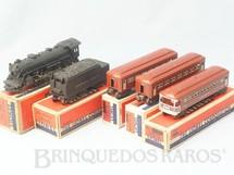1. Brinquedos antigos - Lionel - Conjunto completo com Locomotiva a Vapor 224 dois Carros de Passageiros 2442 Pullman Car e um Vagão 2443 Observation Car Ano 1946