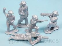 1. Brinquedos antigos - Balila - Conjunto Completo de cinco soldados com 6,00 cm de altura Plástico alumínio Década de 1960