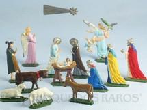 1. Brinquedos antigos - Sem identificação - Presépio com 14 peças Semi-Flat forma Schneider Década de 1950