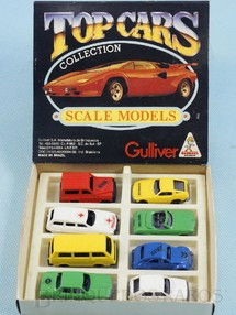 1. Brinquedos antigos - Casablanca e Gulliver - Conjunto Completo Top Cars Collection Scale Models com 8 carros diferentes Década de 1980