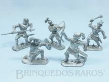1. Brinquedos antigos - Jean Hoefler - Conjunto de 5 Soldados Medievais Década de 1970