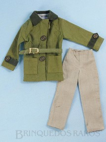 Brinquedos Antigos - Estrela - Conjunto de Jaqueta cinto e calça do Boneco Ruivo com Barba Anos 1979 e 1980