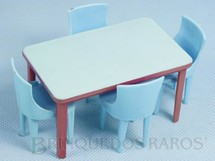 1. Brinquedos antigos - Plasco Toy - Conjunto de Mesa e quatro cadeiras Década de 1960