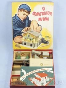 1. Brinquedos antigos - Tabajaras  - Conjunto de Montar O Construtor Mirim Caixa com 35,0 x 30,0 cm 95 peças Completo 100% original Com Manual de Instruções Década de 1950