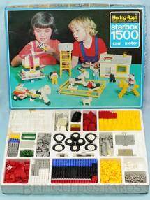 1. Brinquedos antigos - Hering Rasti - Conjunto de montar Starbox 1500 com 1150 peças Motor Caixa de pilhas Engrenagens etc Década de 1970