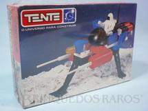 1. Brinquedos antigos - Tente - Conjunto de montar Tente Veículo Espacial Caixa Lacrada Década de 1980