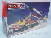 1. Brinquedos antigos - Tente - Conjunto de montar Tente Veículo Espacial com reboque e Foguete Caixa Lacrada Década de 1980