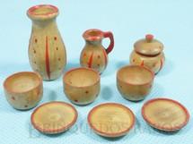 1. Brinquedos antigos - Sem identificação - Conjunto de nove Utensílios para Cozinha de Boneca Década de 1930