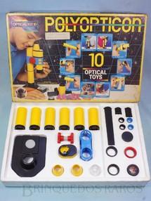 1. Brinquedos antigos - D.F. Vasconcellos - Conjunto de Partes Ópticas Poliopticon Completo perfeito estado Série Exportação Manual em português Década de 1980