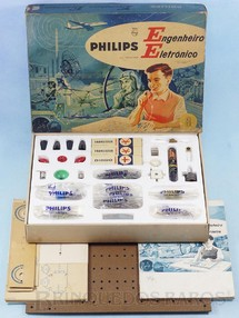 Brinquedos Antigos - Philips - Conjunto Engenheiro Eletrônico Modelo EE8 completo perfeito estado com Manual componentes e cartelas lacradas Década de 1960