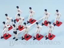 1. Brinquedos antigos - Casablanca e Gulliver - Conjunto Futebol Club Gulliver São Paulo com 11 Jogadores pintados à mão Década de 1990