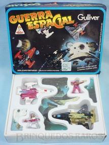 1. Brinquedos antigos - Casablanca e Gulliver - Conjunto Guerra Espacial com duas naves e duas figuras Caixa lacrada Década de 1980