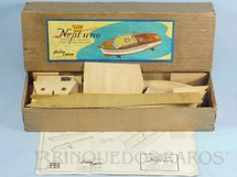 1. Brinquedos antigos - Hobbylandia - Conjunto Lancha Netuno para montar com motor elétrico Década de 1970