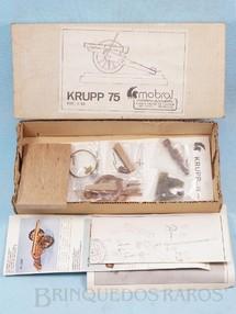 1. Brinquedos antigos - Mobral - Conjunto para montar um Canhão Krupp 75 mm de madeira e metal com 12,00 cm de comprimento Cópia Artezania Latina Década de 1970