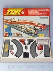 1. Brinquedos antigos - Trol - Conjunto TCR Circuito Mônaco completo com três carros Fórmula Indy Década de 1980