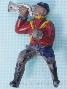 1. Brinquedos antigos - Fanabri - Corneteiro a Cavalo do Exército Paraguaio Batalha do Tuiutí Década de 1960