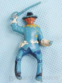 Brinquedos Antigos - Casablanca e Gulliver - Coronel da 7� Cavalaria montado a cavalo com sabre