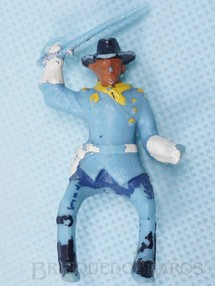 Brinquedos Antigos - Casablanca e Gulliver - Coronel da Sétima Cavalaria montado a cavalo com sabre