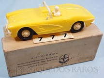 1. Brinquedos antigos - Estrela - Corvette amarela licença Gilbert Co. Ano 1963