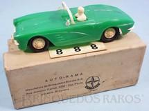 1. Brinquedos antigos - Estrela - Corvette verde licença Gilbert Co. Ano 1963
