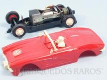 1. Brinquedos antigos - Estrela - Corvette vermelha licença Gilbert Co. Ano 1963