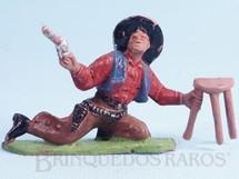 1. Brinquedos antigos - Casablanca e Gulliver - Cowboy brigando no Saloon com revolver e banqueta Casablanca numerado 173