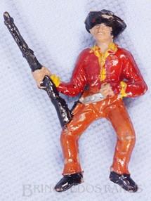Brinquedos Antigos - Casablanca e Gulliver - Cowboy de Montar a Cavalo com rifle Casablanca numerado 129