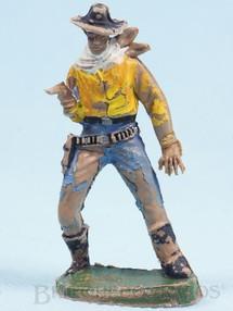 Brinquedos Antigos - Casablanca e Gulliver - Cowboy de pé atirando com revolver Gulliver Década de 1970