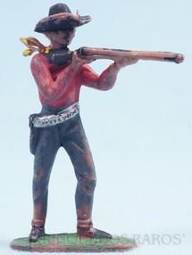 Brinquedos Antigos - Casablanca e Gulliver - Cowboy de pé atirando com rifle Cowboy Atirador Gulliver