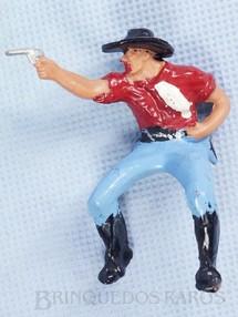 1. Brinquedos antigos - Casablanca e Gulliver - Cowboy montado a cavalo atirando com revolver Gulliver Década de 1970
