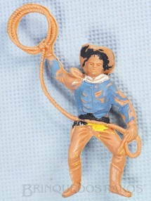 1. Brinquedos antigos - Casablanca e Gulliver - Cowboy montado a cavalo com laço