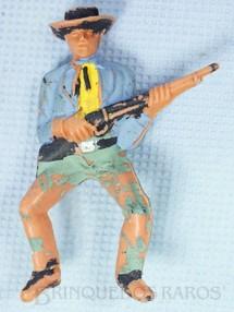 Brinquedos Antigos - Casablanca e Gulliver - Cowboy montado a cavalo com rifle Gulliver D�cada de 1970