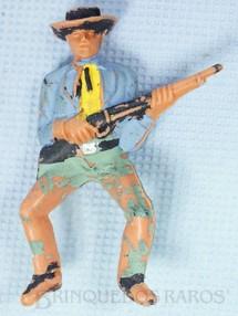 1. Brinquedos antigos - Casablanca e Gulliver - Cowboy montado a cavalo com rifle Gulliver Década de 1970