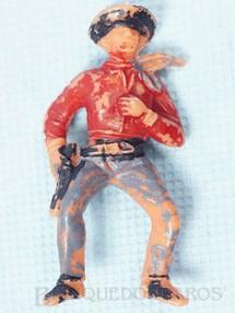 Brinquedos Antigos - Casablanca e Gulliver - Cowboy montado a Cavalo Gulliver numerado 127 D�cada de 1970