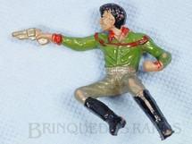 1. Brinquedos antigos - Casablanca e Gulliver - Cowboy Sentado atirando com revolver Casablanca Numerado 130 Década de 1960