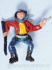 1. Brinquedos antigos - Casablanca e Gulliver - Cowboy sentado com rifle e revolver para carroça Casablanca numerado 128 Década de 1970